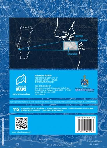 Mapa do Parque Natural da Arrábida