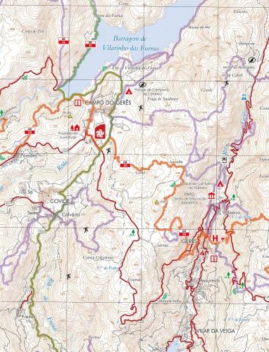 Mapa do Parque Nacional da Peneda-Gerês