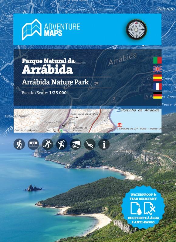 Carte du Parc Naturel d'Arrábida