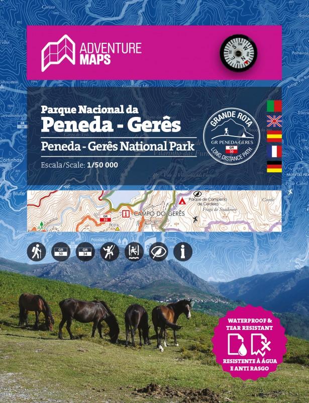 Carte du Parc National de Peneda-Gerês