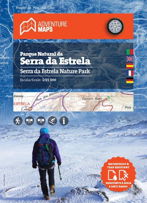 Carte du Parc Naturel de Serra da Estrela